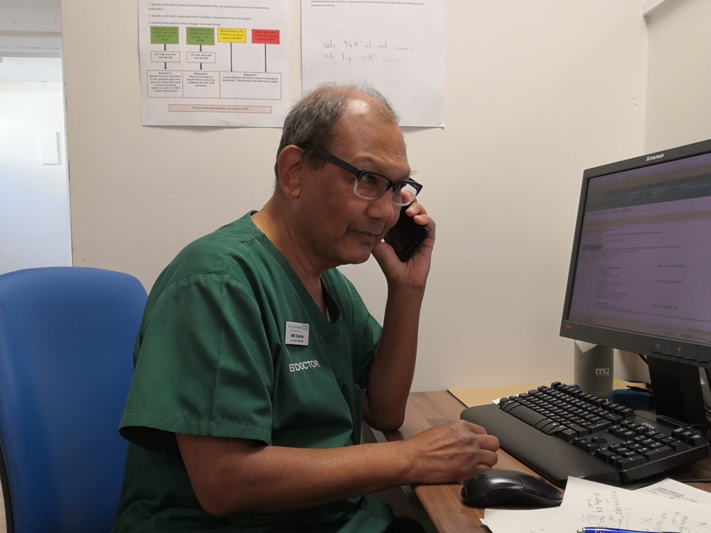Doctor on phone ticc19